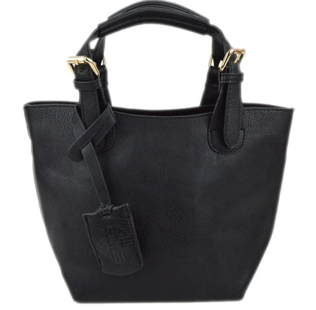 Baby Bucket Black Tote - The Kemble Shop