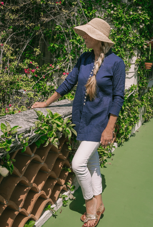 Solid Navy Palm Beach Tunic - The Kemble Shop