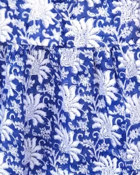 Blue and White Palm Beach Pajamas - The Kemble Shop