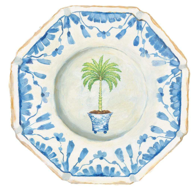 Potted Palms Die-Cut Placemats - The Kemble Shop