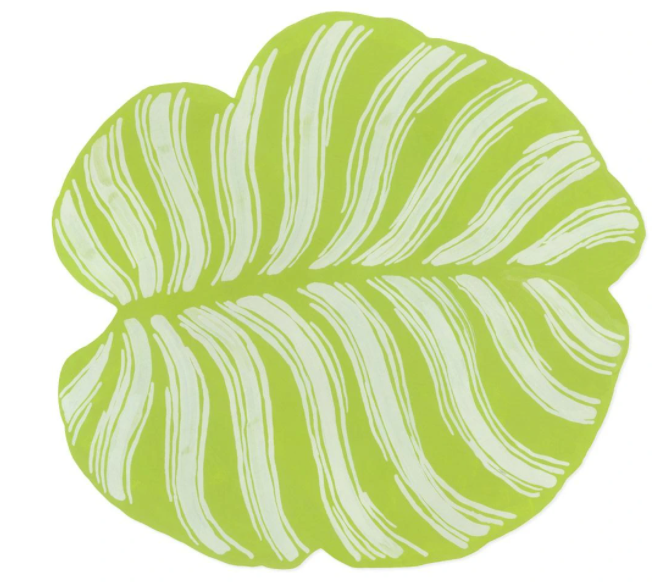 Tropical Leaf Die-Cut Placemats - The Kemble Shop
