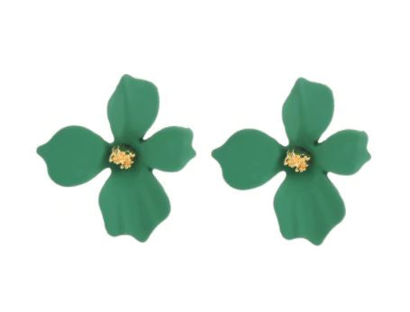 Green Floral Earrings - The Kemble Shop