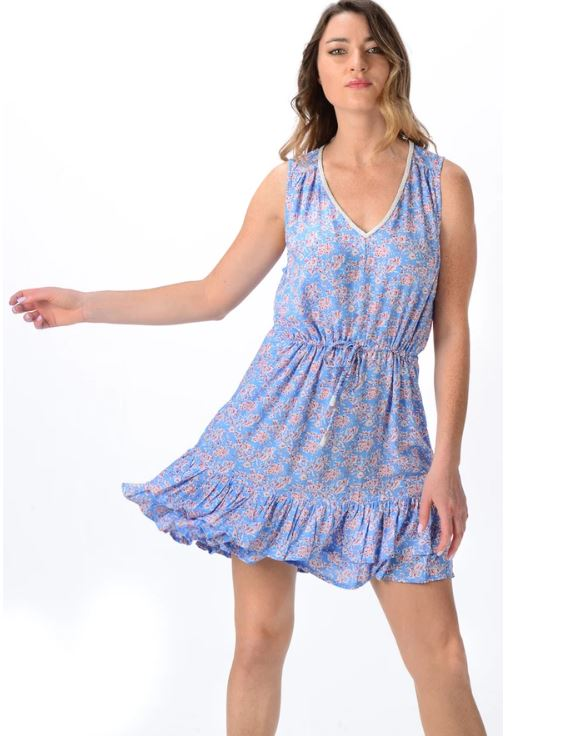Sky Blue Hannah Dress - Walker & Wade - The Kemble Shop