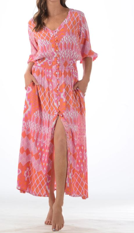 Flamingo Kelsey Dress - Walker & Wade - The Kemble Shop