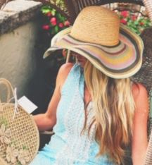 Rainbow Palm Beach Classic Floppy Hat - The Kemble Shop