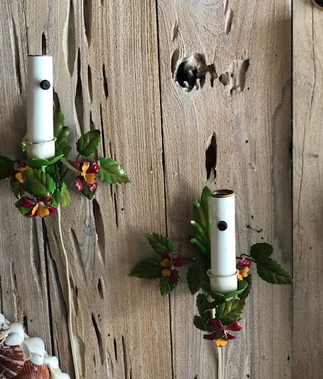Pair of Floral Wall Sconces - thekembleshop-2