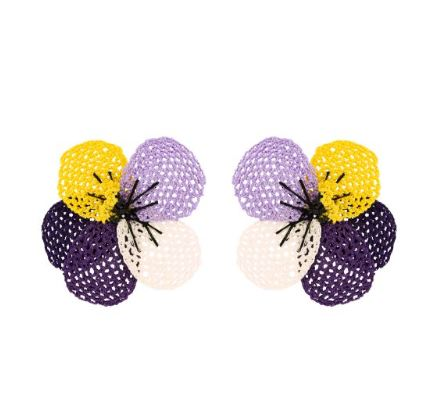 Pansy Fields Earrings - The Kemble Shop