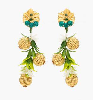 Golden Noble Grape Earrings - thekembleshop-2