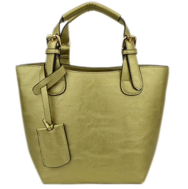 Baby Bucket Gold Tote - The Kemble Shop