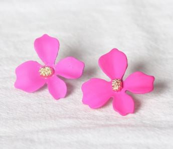 Pink Floral Earrings - The Kemble Shop