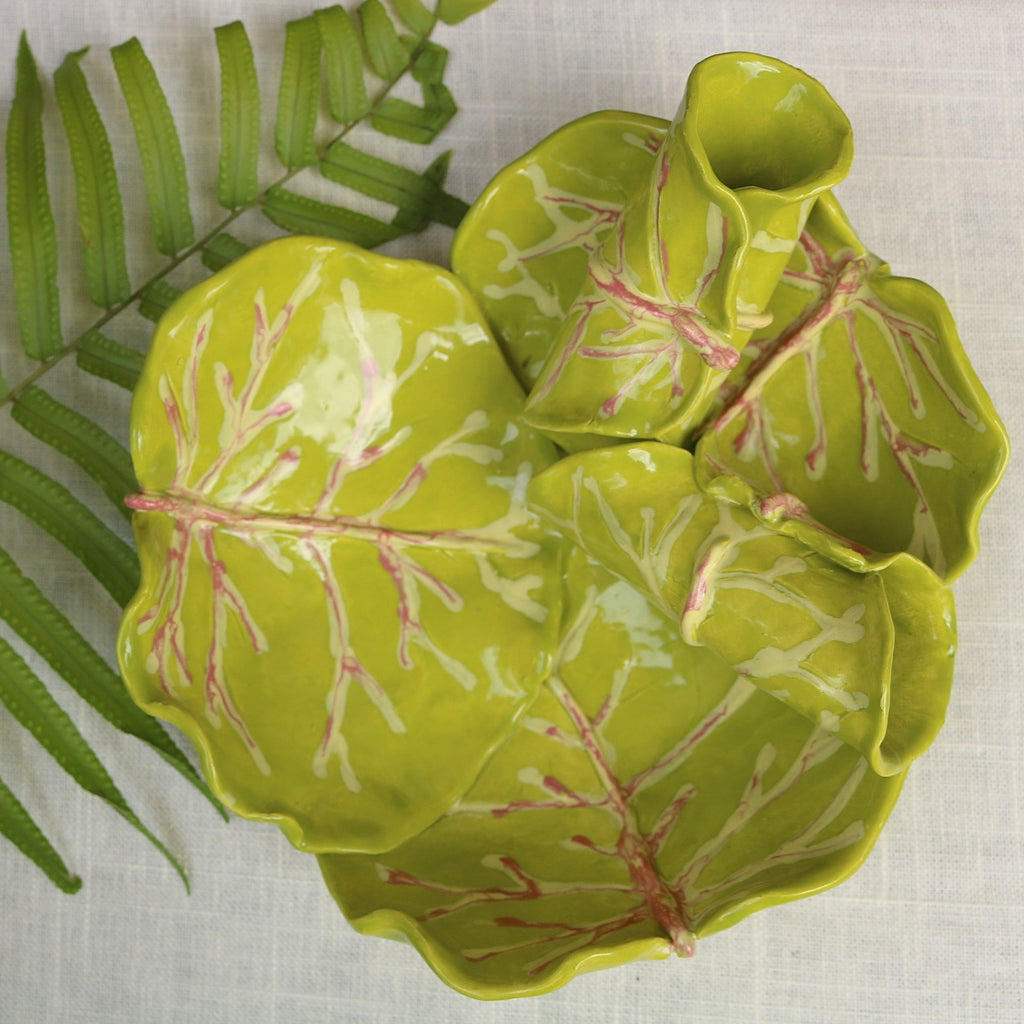 Sea Grape Leaf Medium Bowls - The Kemble Shop