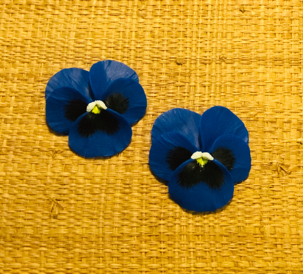 Blue Medium Pansy Earring - The Kemble Shop