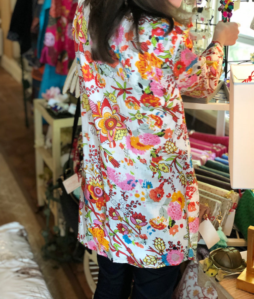 Summer Blossom Pullover Tunic - The Kemble Shop
