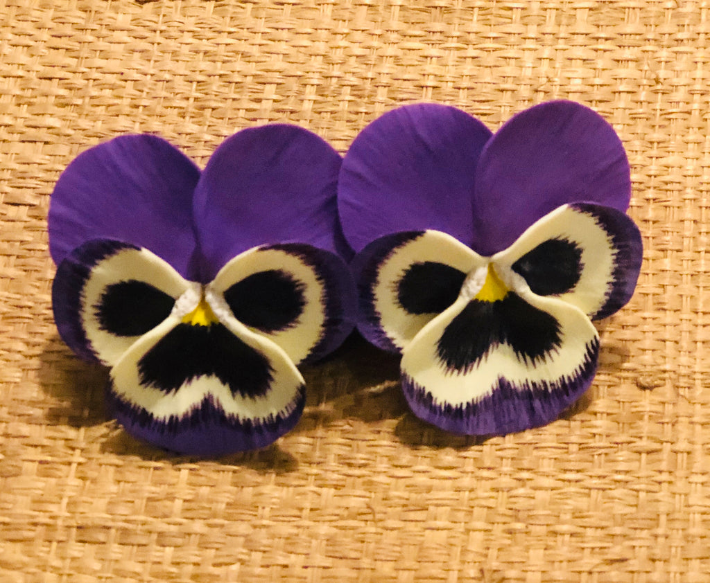 Purple Thunder Large Pansy Earring - The Kemble Shop