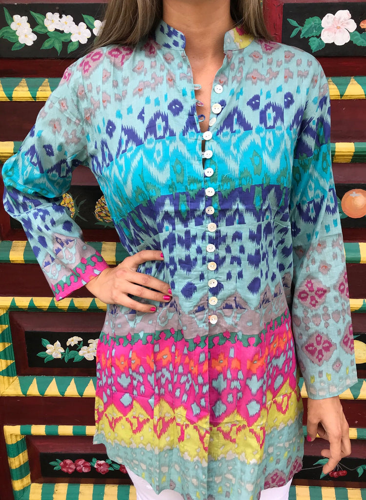 Sunset Mural Palm Beach Tunic - thekembleshop-2