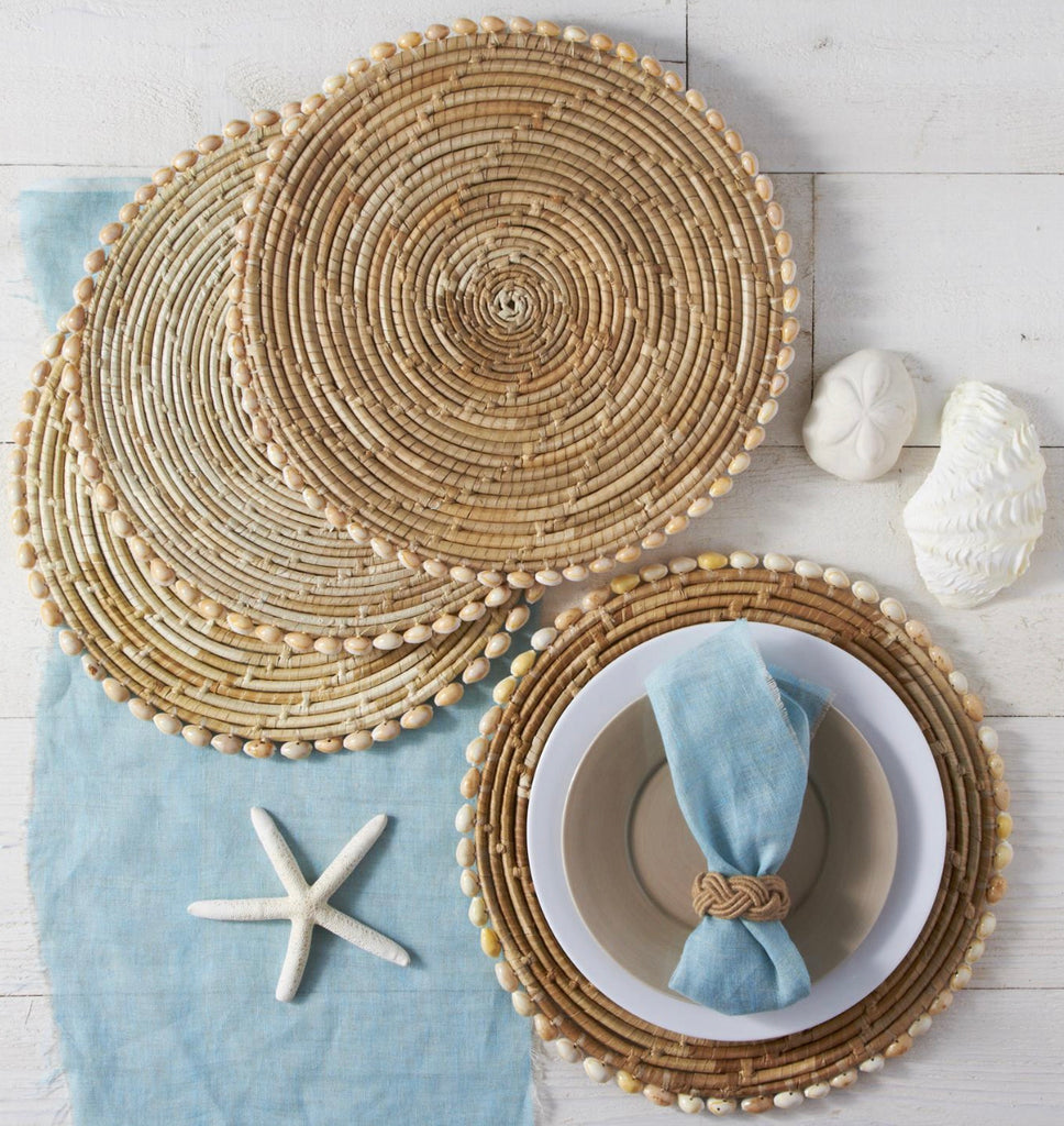 Set of 4 Seashell Placemats - The Kemble Shop