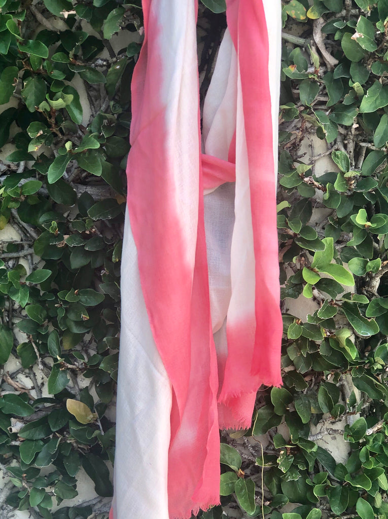 Pink and Ivory Ombre Scarf - The Kemble Shop
