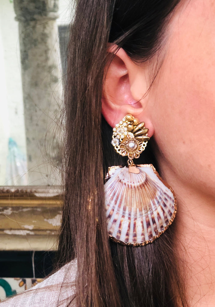 Fiesta Shell Earrings - The Kemble Shop