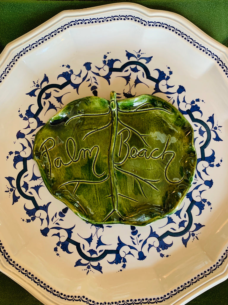 Palm Beach Ceramic Sea Grape Side Plate - The Kemble Shop