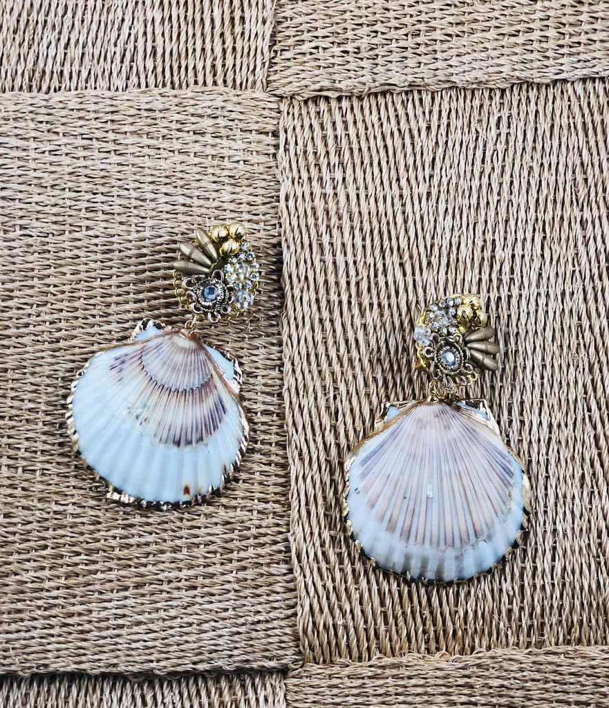 Fiesta Shell Earrings - thekembleshop-2