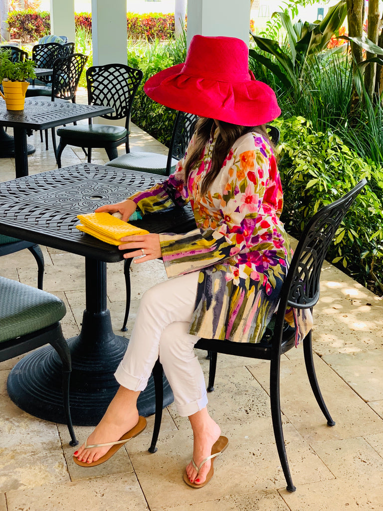 Watercolor Flowers Palm Beach Tunic - The Kemble Shop