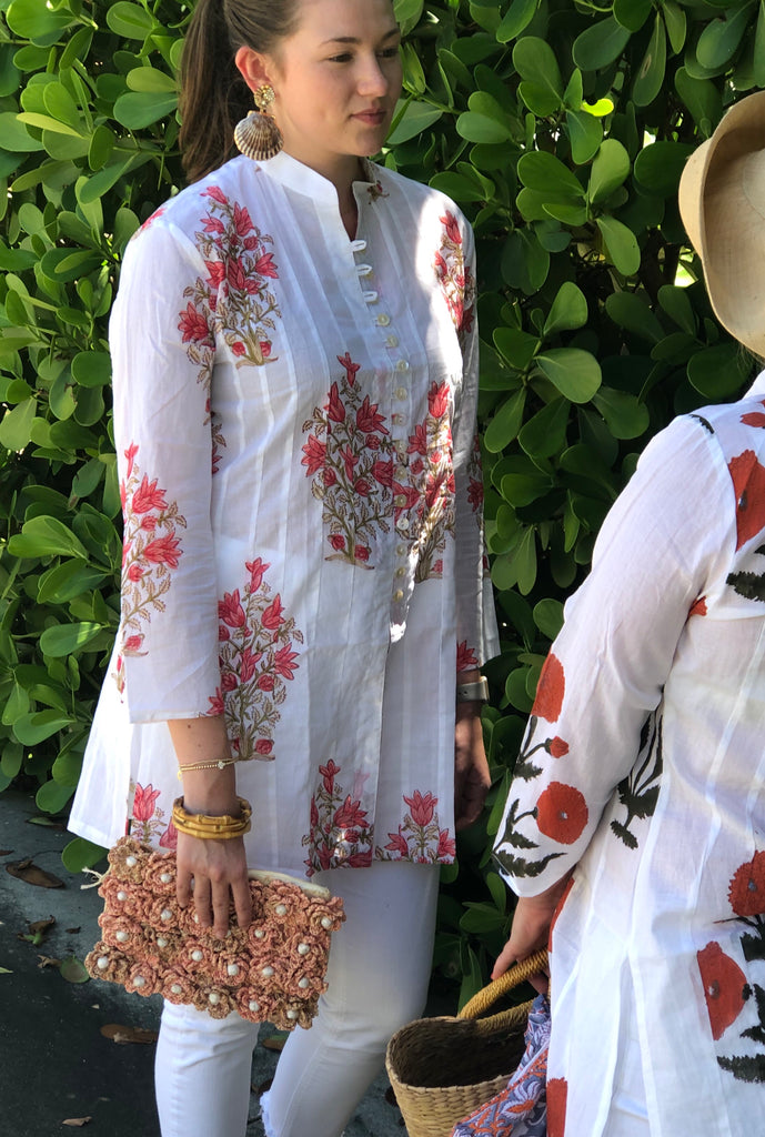 Red Tulips Palm Beach Tunic - The Kemble Shop