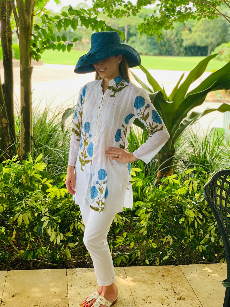 Blue Poppy Palm Beach Tunic - The Kemble Shop