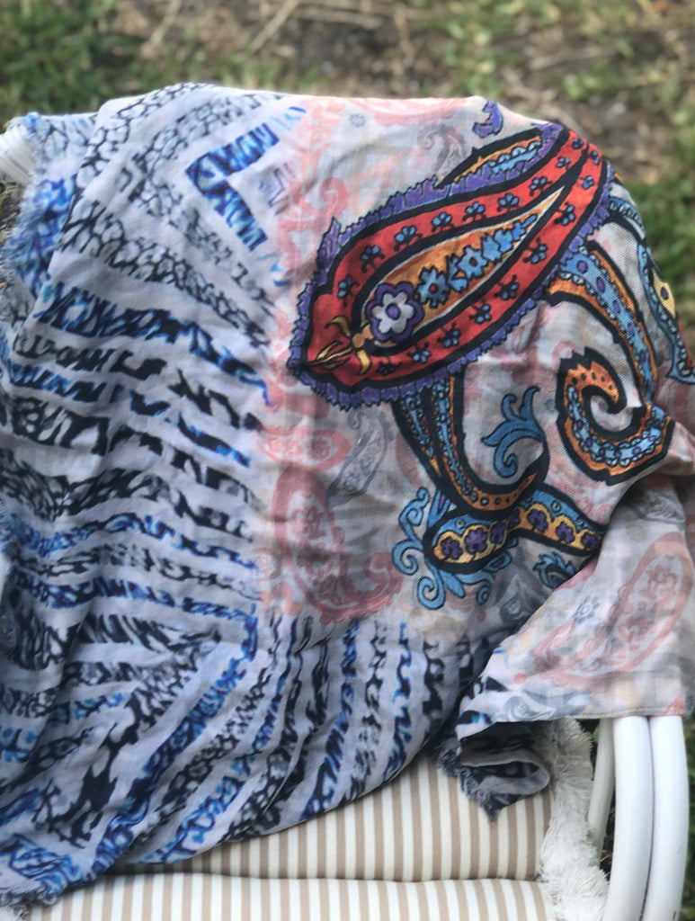 Paisley Palisades Scarf - The Kemble Shop