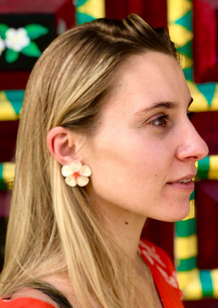 Polly Red Coral Earrings - The Kemble Shop