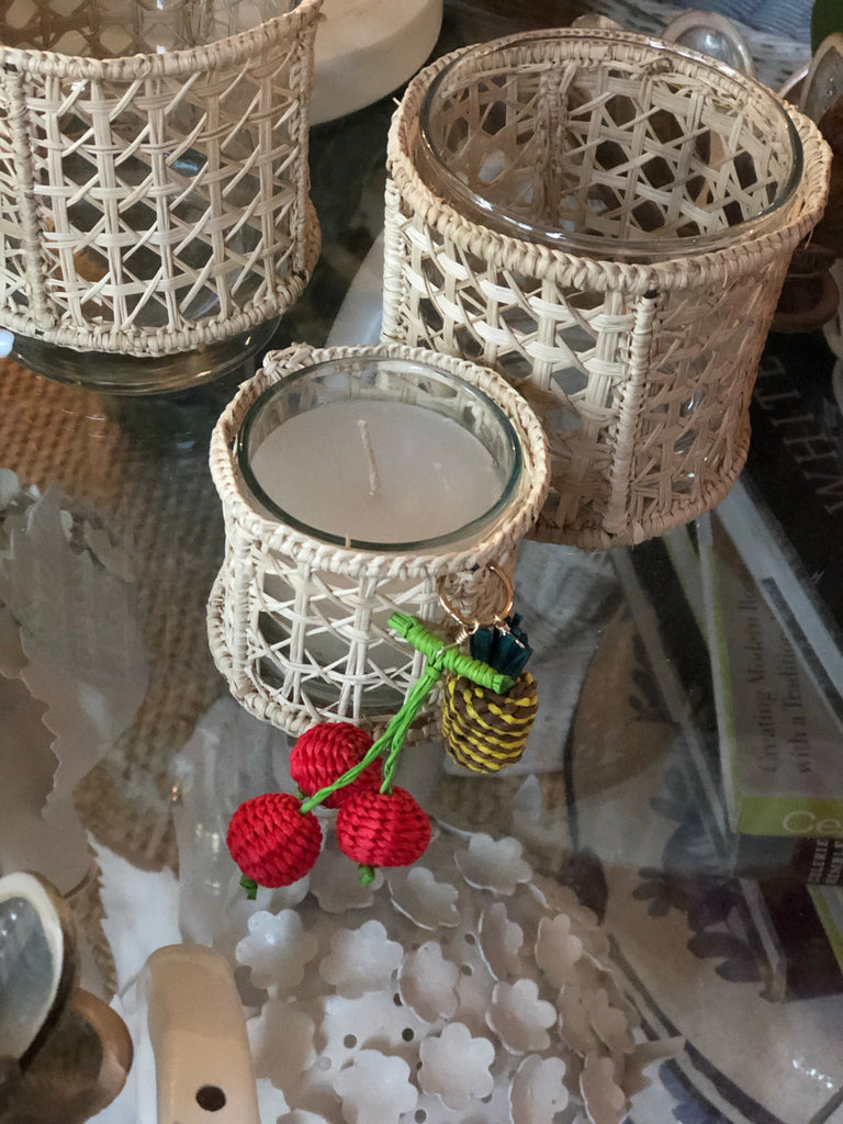 Rattan Cherry Pick Candle Holders - The Kemble Shop