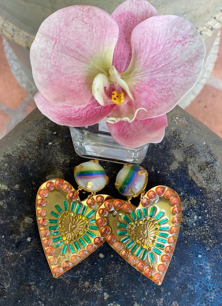 Heart Love Earrings - Mercedes Salazar - The Kemble Shop