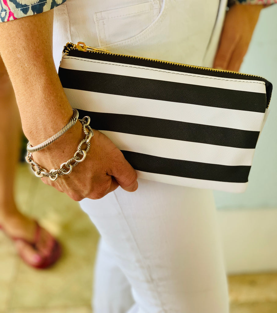 Small Striped Clutch - The Kemble Shop