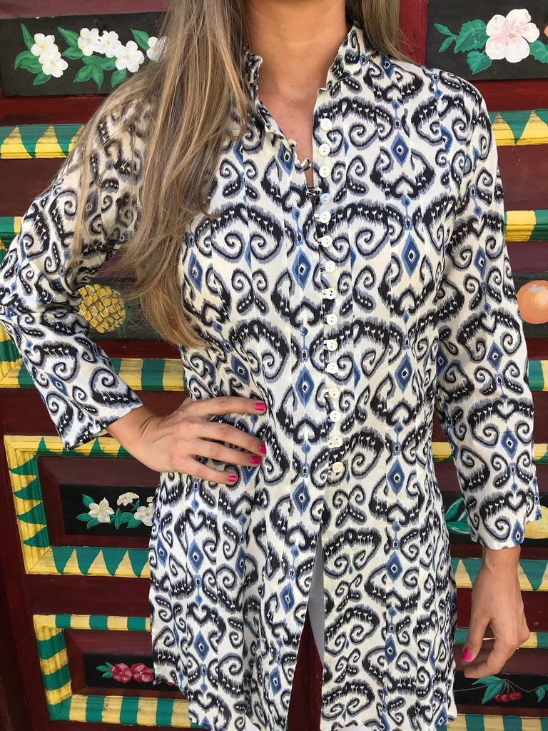 Paisley Palm Beach Tunic - The Kemble Shop