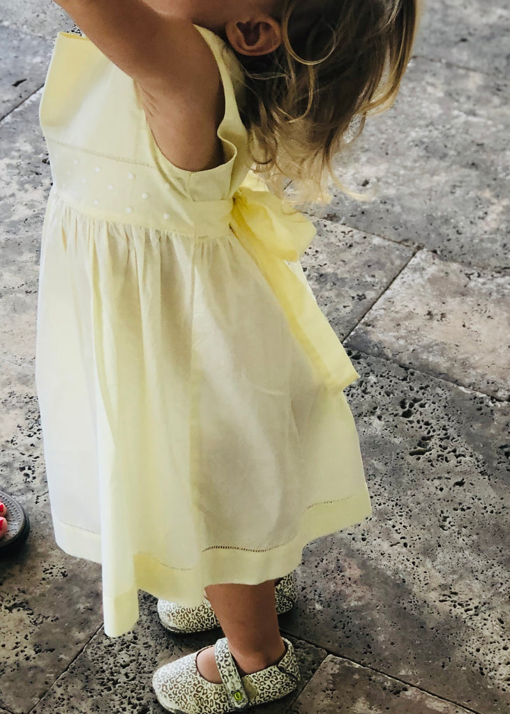 Girls Yellow Sunlight Dress - thekembleshop-2