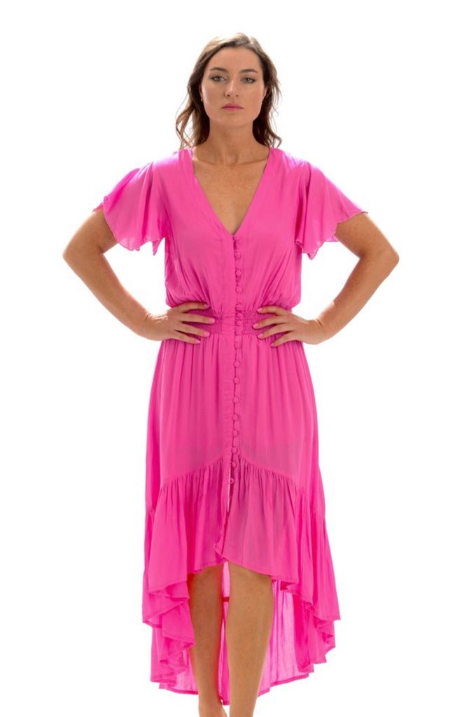 Ava Dress / Hot Pink - Walker & Wade - The Kemble Shop