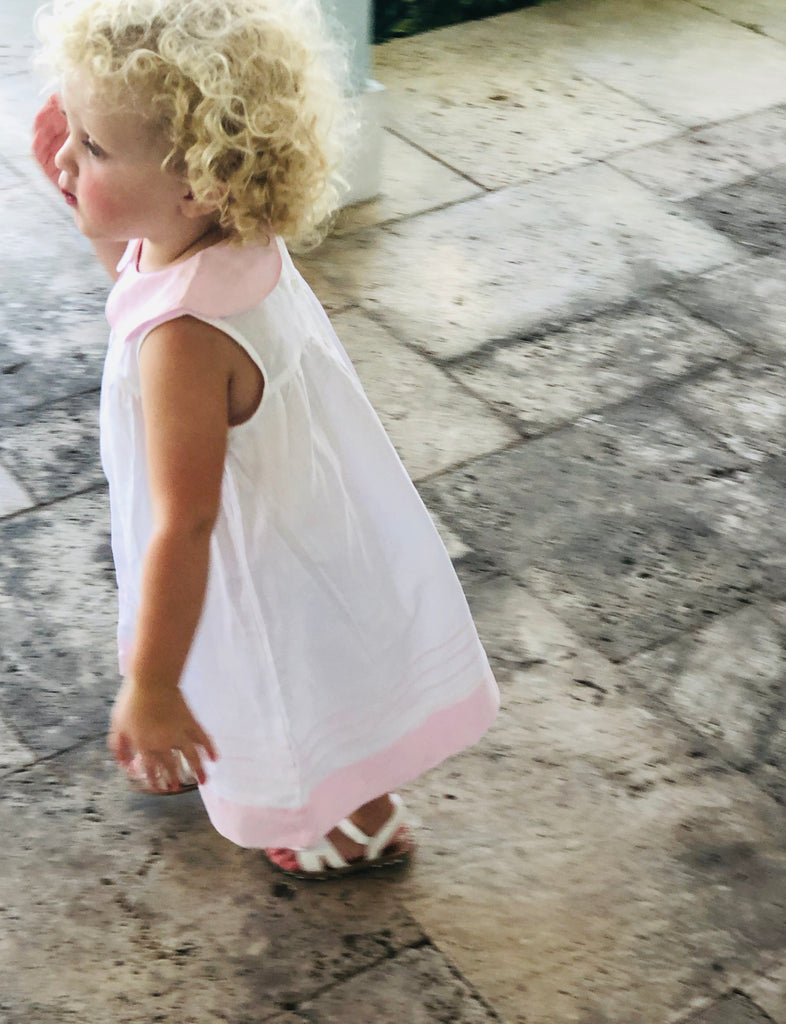 Girls Pink Summer Dress - The Kemble Shop