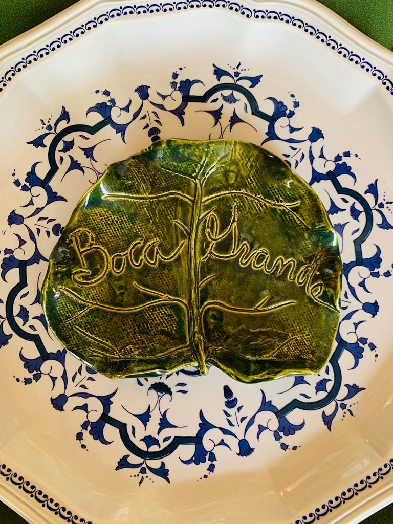Boca Grande Ceramic Sea Grape Side Plate - The Kemble Shop