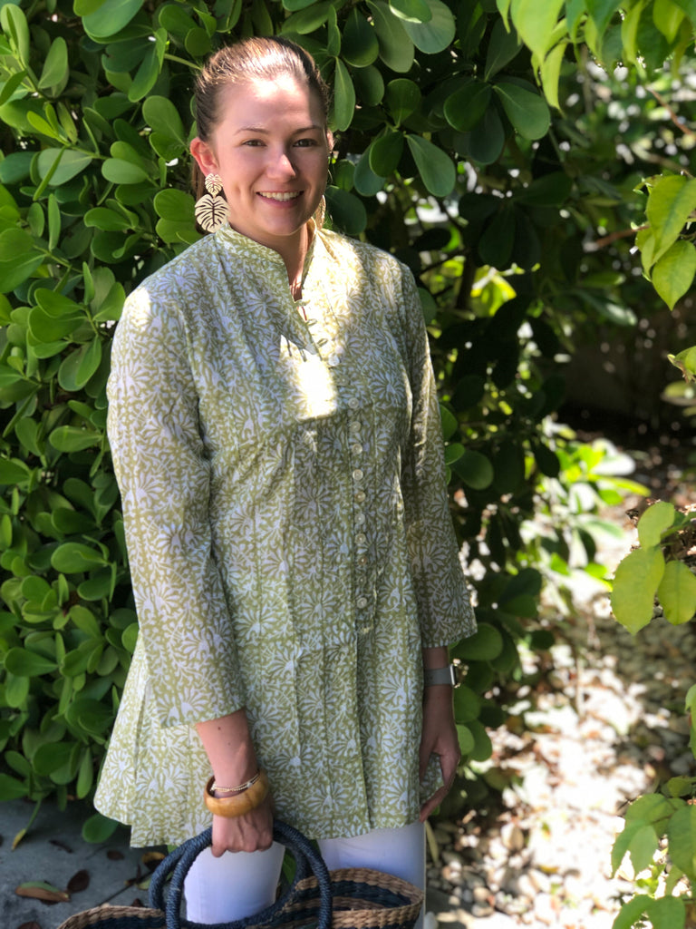 Green Meadows Floral Palm Beach Tunic - The Kemble Shop