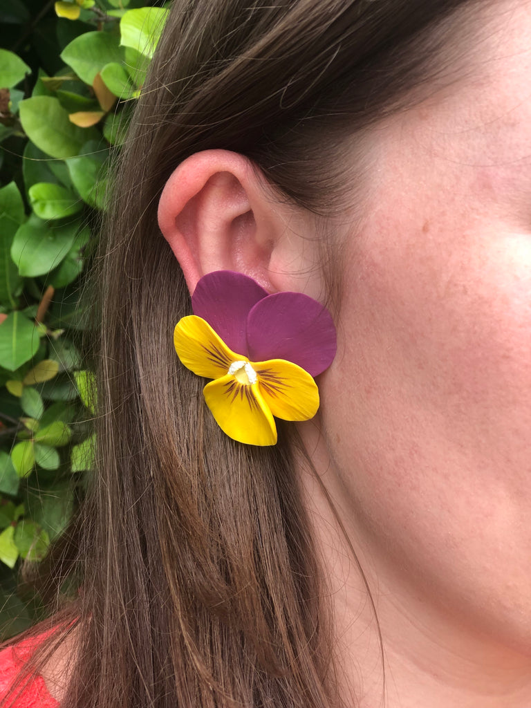 Prairie Pansy Earrings - The Kemble Shop