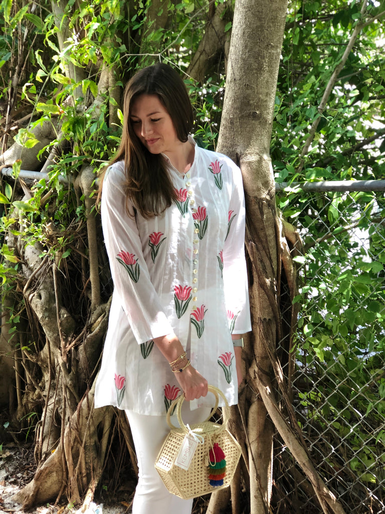 Split Tulip Palm Beach Tunic - The Kemble Shop