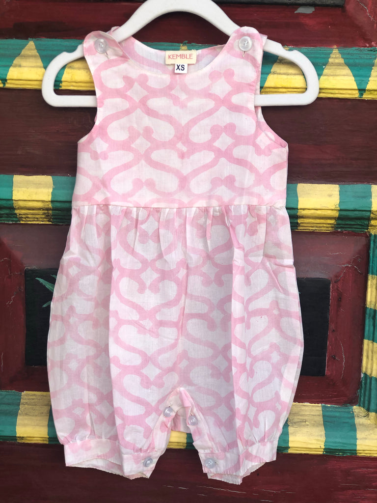 Light Pink Heart Palm Beach Romper - The Kemble Shop