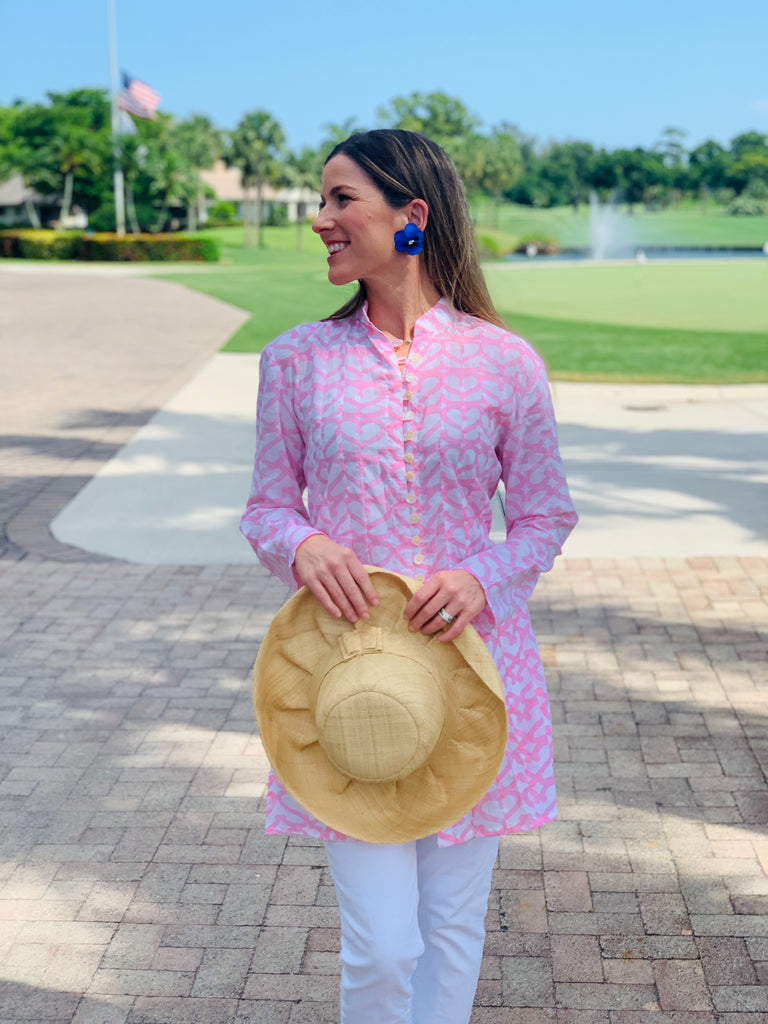 Light Pink Heart Palm Beach Tunic - thekembleshop-2