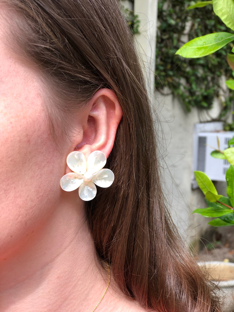 Polly Pearl Earrings - thekembleshop-2