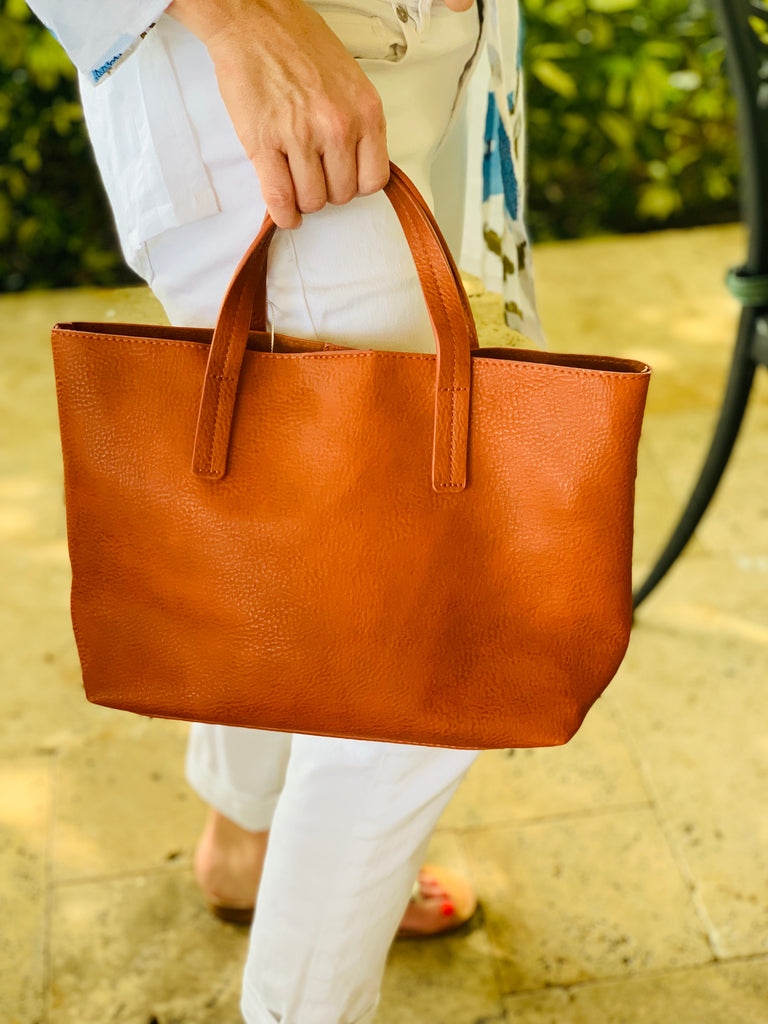 Camel Medium Half Tote - The Kemble Shop
