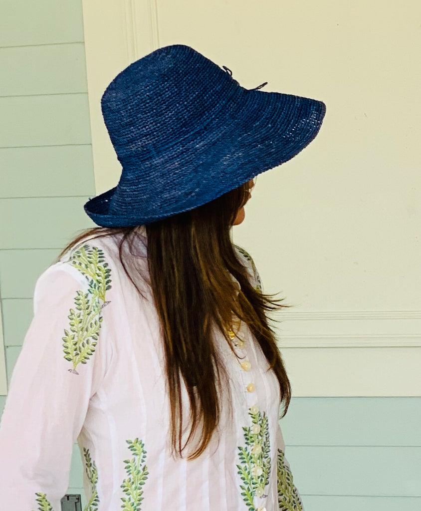 Blue Wheat Palm Beach Classic Hat - The Kemble Shop