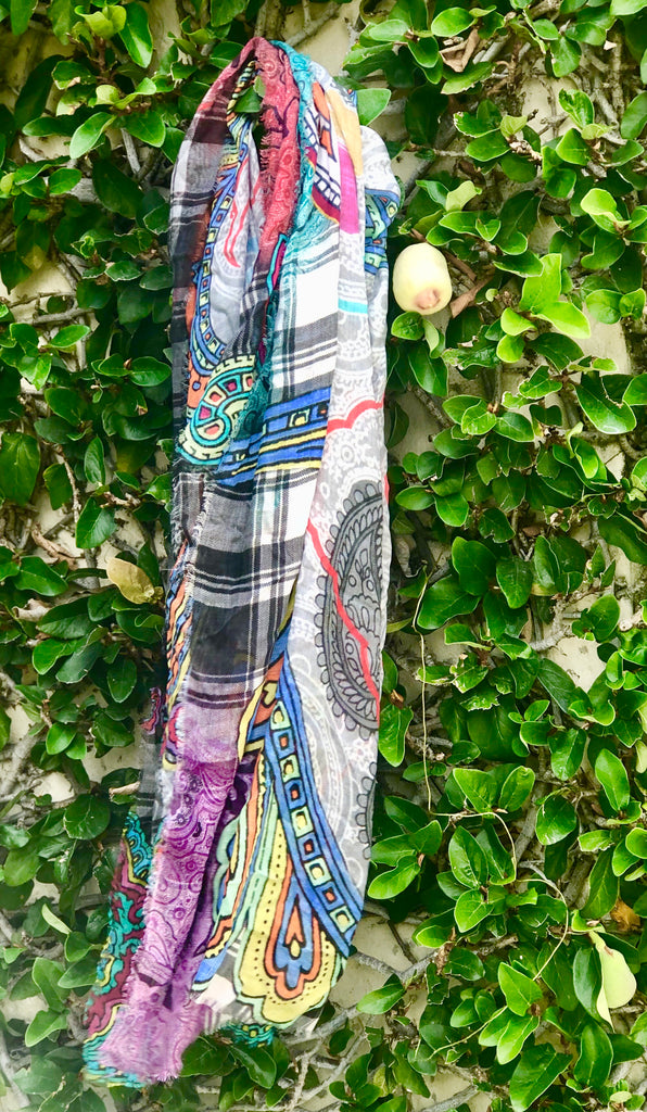 Plaid and Paisley Scarf - The Kemble Shop