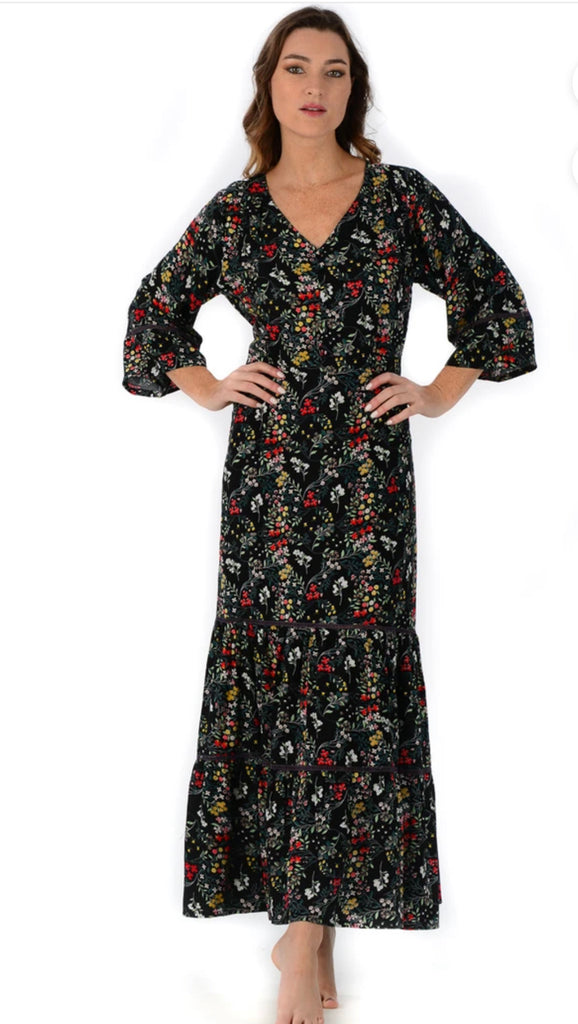 Black Floral Alana Dress - Walker & Wade - The Kemble Shop