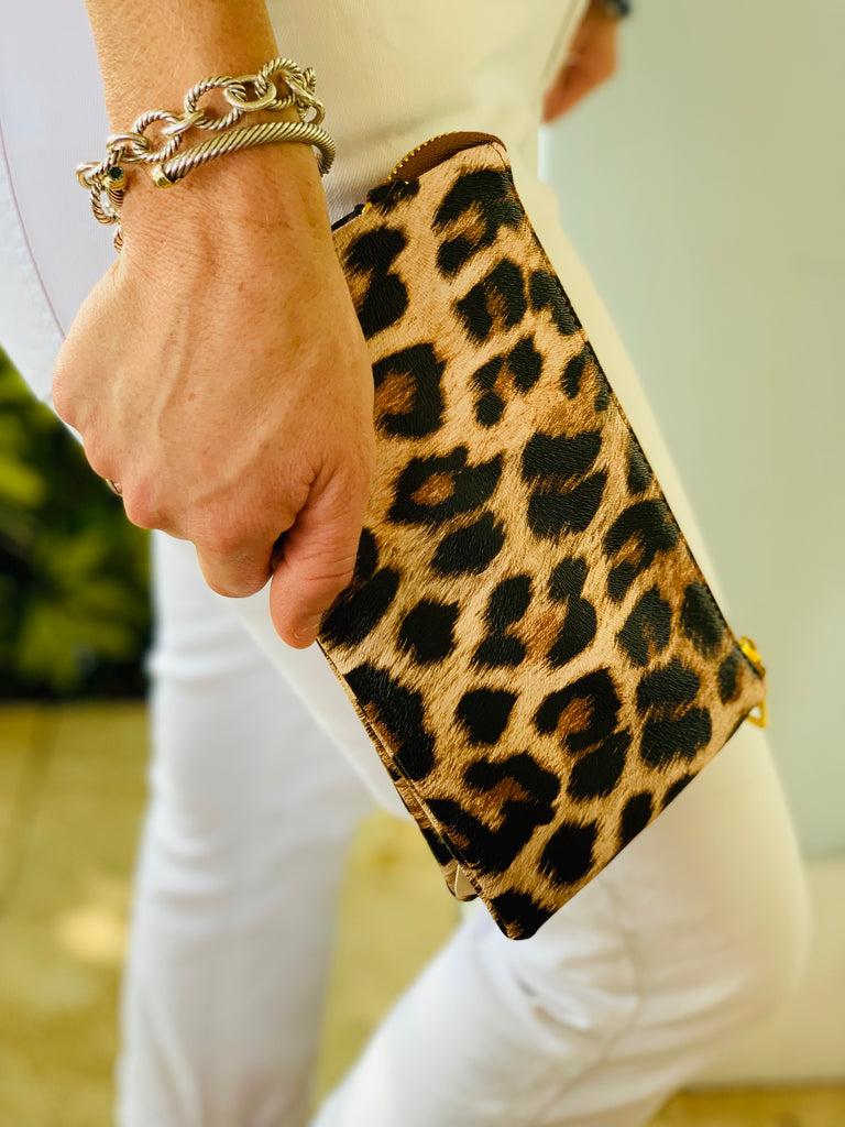 Leopard Patterned Small Clutch - The Kemble Shop