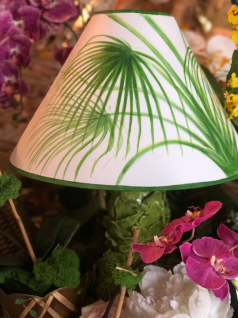 Custom Areca Palm Lampshades - The Kemble Shop
