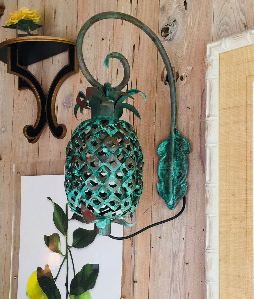 Copper Pineapple Wall Sconce - The Kemble Shop